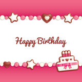 Birthday candy background Royalty Free Stock Photography