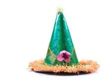 Birthday cap. Isolated on white background Stock Photos