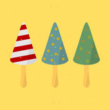 Birthday Cap. On a stick. vector format Royalty Free Stock Photography