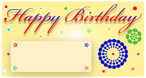 Birthday Card. Birthday greeting Card with space to write message Royalty Free Stock Photography