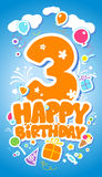 Birthday card. Royalty Free Stock Photos