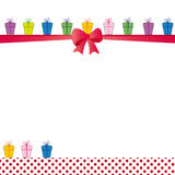 Birthday card. Cute color card on special day Royalty Free Stock Photography