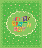 Birthday card. Funny happy birthday card vector design Royalty Free Stock Images