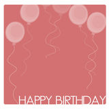 Birthday Card. Or background drawn in Illustrator CS3 Royalty Free Stock Image