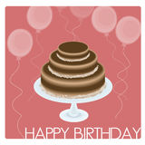 Birthday Card. Or background drawn in Illustrator CS3 Royalty Free Stock Photos