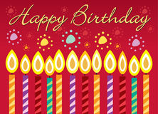 Birthday card. Birthday greeting card background illustration Royalty Free Stock Photo