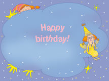 Birthday card. With two fairies Stock Photography