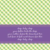 Birthday card with baby lullaby stock illustration