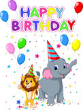 Birthday card background Stock Images