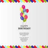 Birthday card with background vector design Stock Photos
