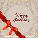 Birthday card with background vector design Royalty Free Stock Photography