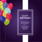 Birthday card with background vector design stock photography