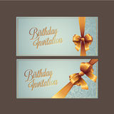 Birthday card with background vector design stock images