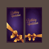 Birthday card with background vector design Royalty Free Stock Photo