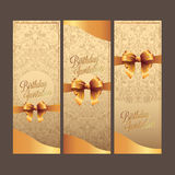 Birthday card with background vector design Stock Image