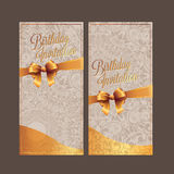 Birthday card with background vector design Royalty Free Stock Photos