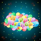 Birthday Card with Balloon Royalty Free Stock Image