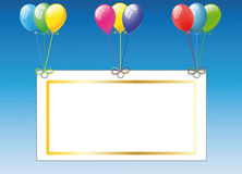 Birthday card with balloons Stock Photos