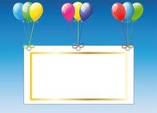 Birthday card with balloons Stock Photos