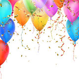 Birthday card with balloons. EPS 10 Royalty Free Stock Photography