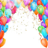 Birthday card with balloons. EPS 10 Stock Photo