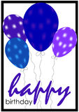 Birthday card with balloons. Stock Image