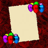 Birthday card with balloons Royalty Free Stock Image