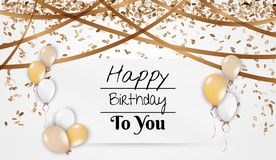 Birthday card with balloons Stock Photo