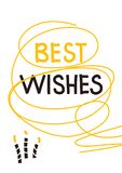 Best wishes birthday greeting card royalty free illustration