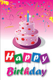 Birthday card-05 Royalty Free Stock Photos