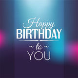 Birthday card in bright colors. Stock Photos