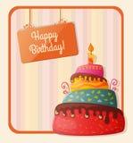 Birthday card with cake Stock Photos