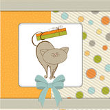 Birthday card with cat Stock Images