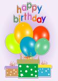 Birthday card. Celebration background - gift boxes Royalty Free Stock Photos