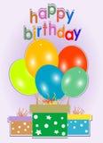 Birthday Card. Celebration Background - Gift Boxes Royalty Free Stock Photos