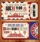 Birthday card with Circus Ticket Royalty Free Stock Photo