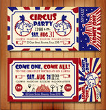Birthday card with Circus Ticket Royalty Free Stock Images