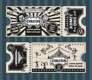 Birthday card with circus tickets vector template Stock Photo