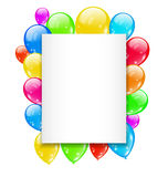 Birthday card with colorful balloons with space fo Stock Photo