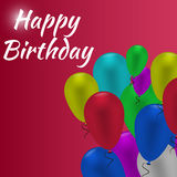 Birthday  card. Colorful  Happy Birthday  card Royalty Free Stock Photo
