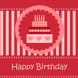 Birthday card with copy space.  Royalty Free Stock Photo