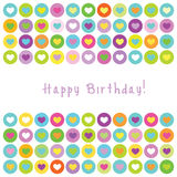 Birthday card with copy space - colorful design Stock Photos