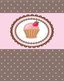 Birthday card with cupcake Royalty Free Stock Photo