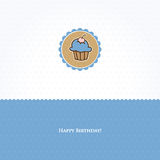 Birthday card with cupcake Stock Photo