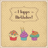 Birthday card stock illustration
