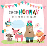Birthday card vector illustration