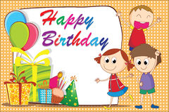 Birthday card-04 Stock Image