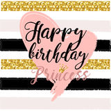 Birthday card Design elements for little princess, glamour girl and woman. vector illustration. Royalty Free Stock Photography