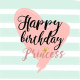 Birthday card Design elements for little princess, glamour girl and woman. vector illustration. Royalty Free Stock Images