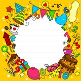 Birthday Card. With elements of a circle Royalty Free Stock Image